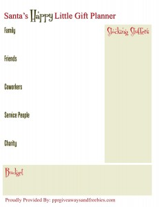 Christmas Gifts Planner