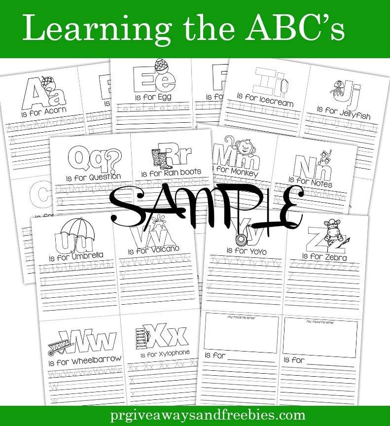 Learning the ABC's Coloring Book Preview Sample-No Color