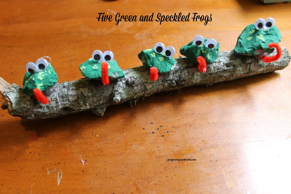 Five Green and Speckled Frogs-Rock Frogs