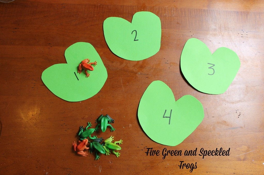 Five Green and Speckled Frogs-Activity