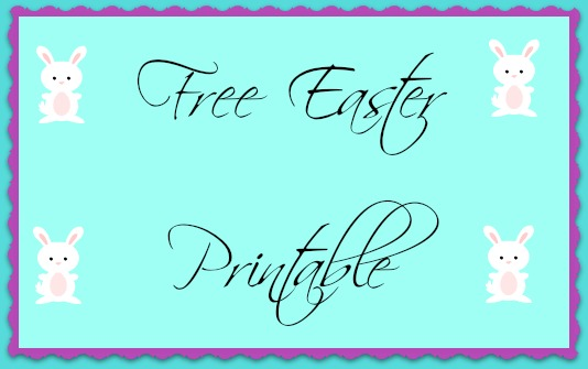 Free Easter Printable- A Fun and Educational Worksheet
