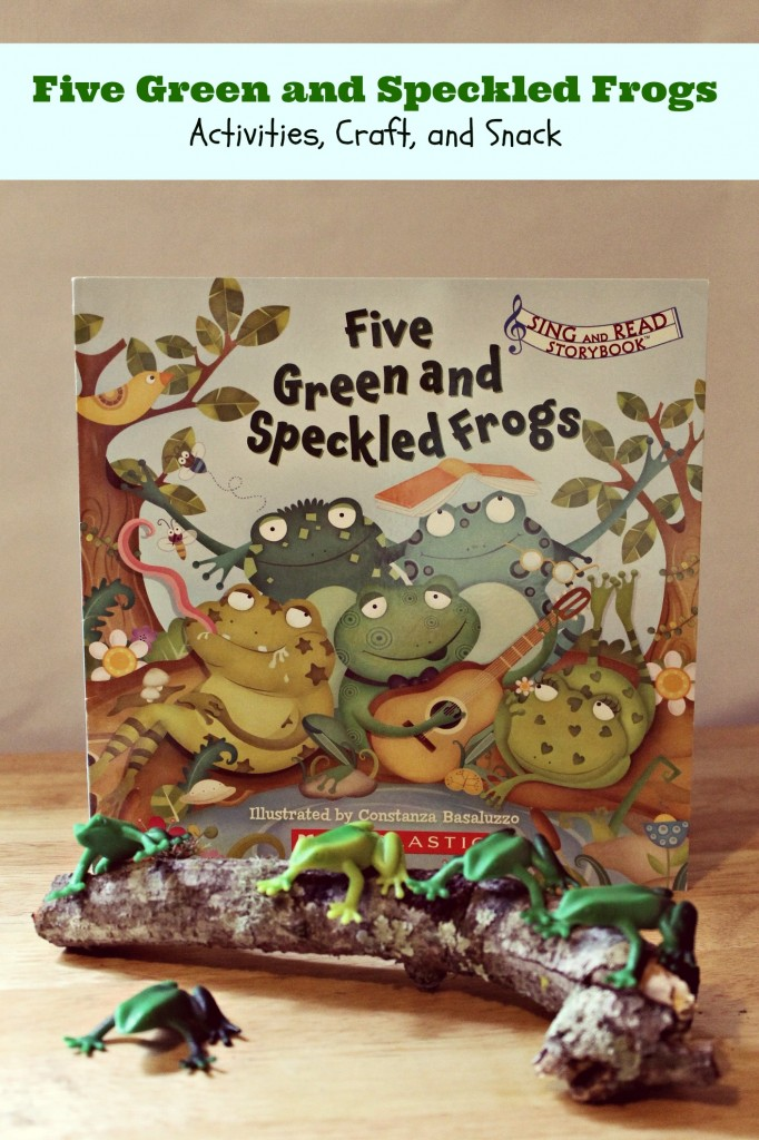 Five Green and Speckled Frogs- Book