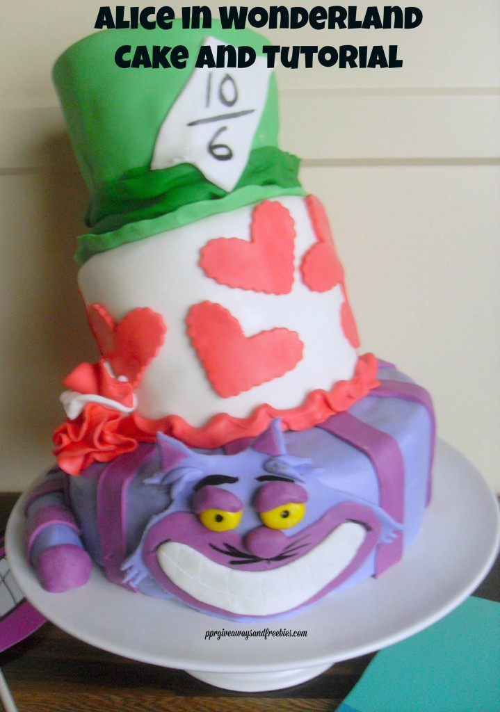 ALICE in Wonderland themed cake and tutorial