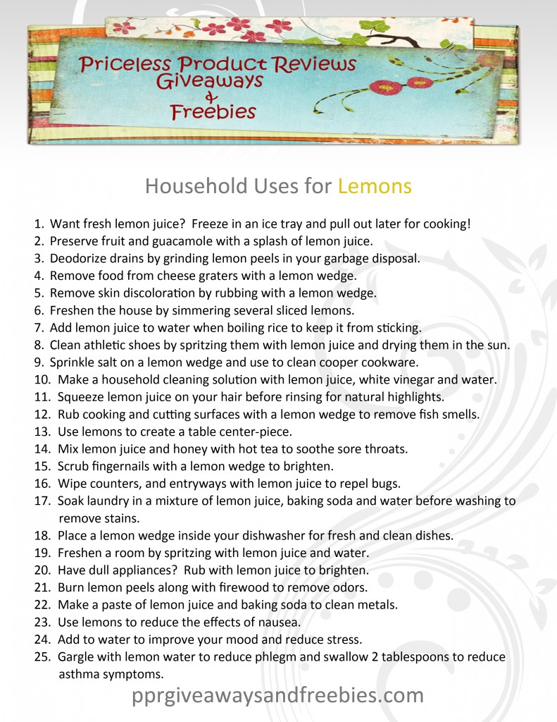 Household Uses for Lemons