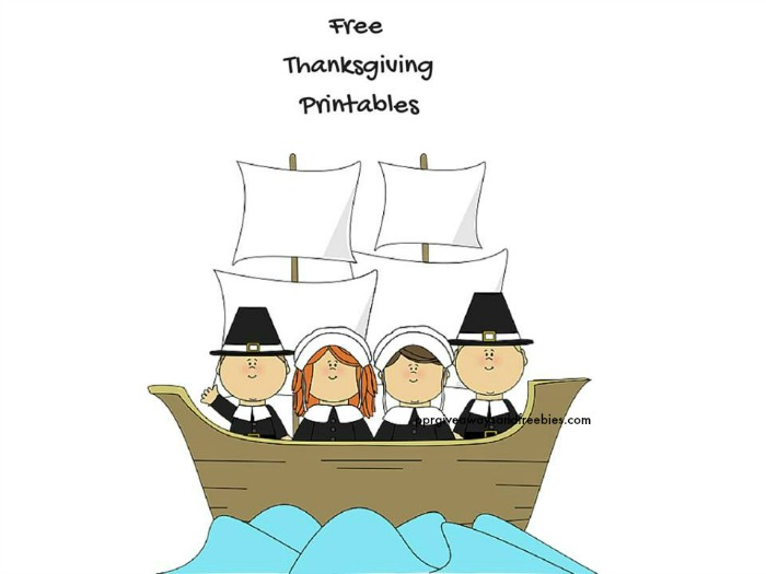 Free Thanksgiving Printables- Color and Learn