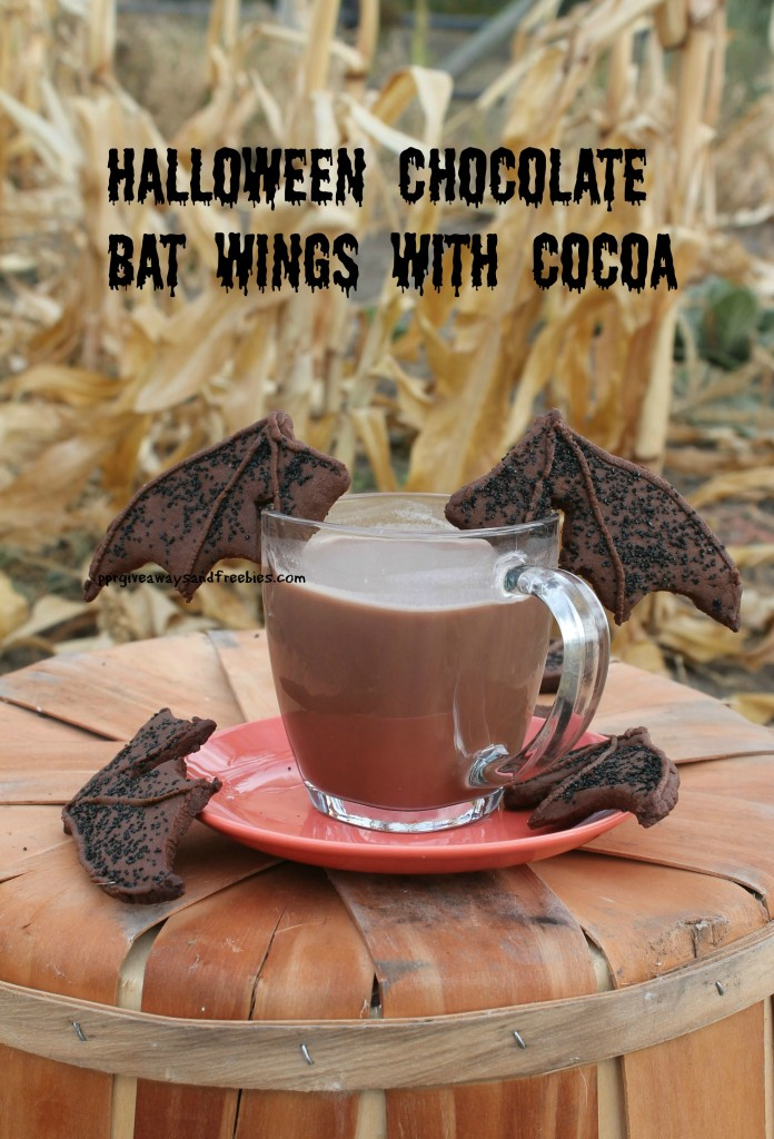 chocolate bat wings and hot cocoa