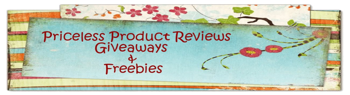 Priceless Product Reviews, Giveaways and Freebies