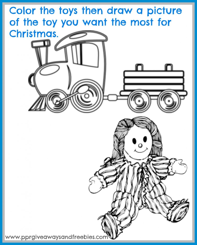 5 Christmas Activity Pages Printables-Toys