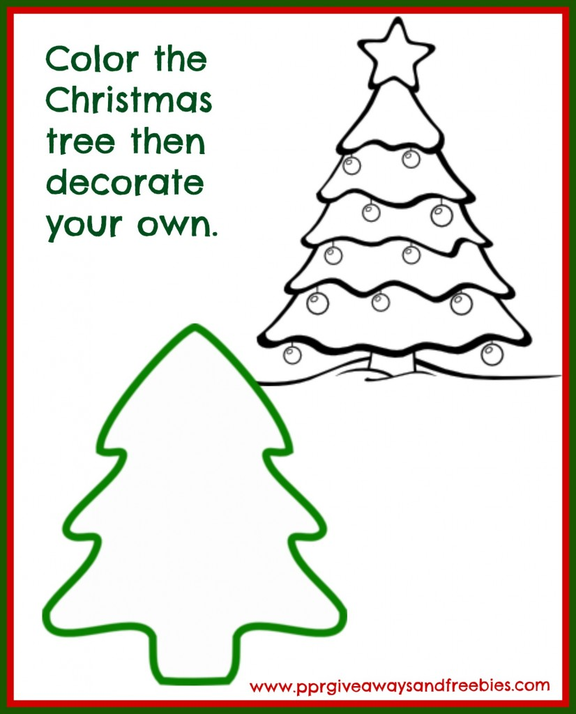 5 Christmas Activity Pages Printables-Tree