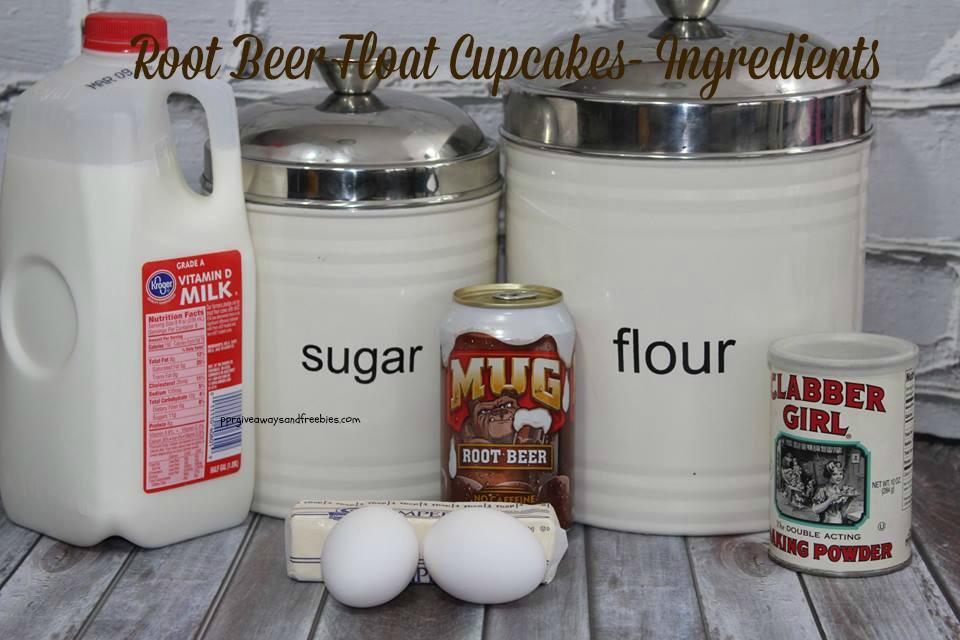 Root Beer Float Cupcakes- Ingredients