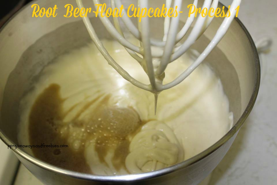 Root Beer Float Cupcakes= Process 1