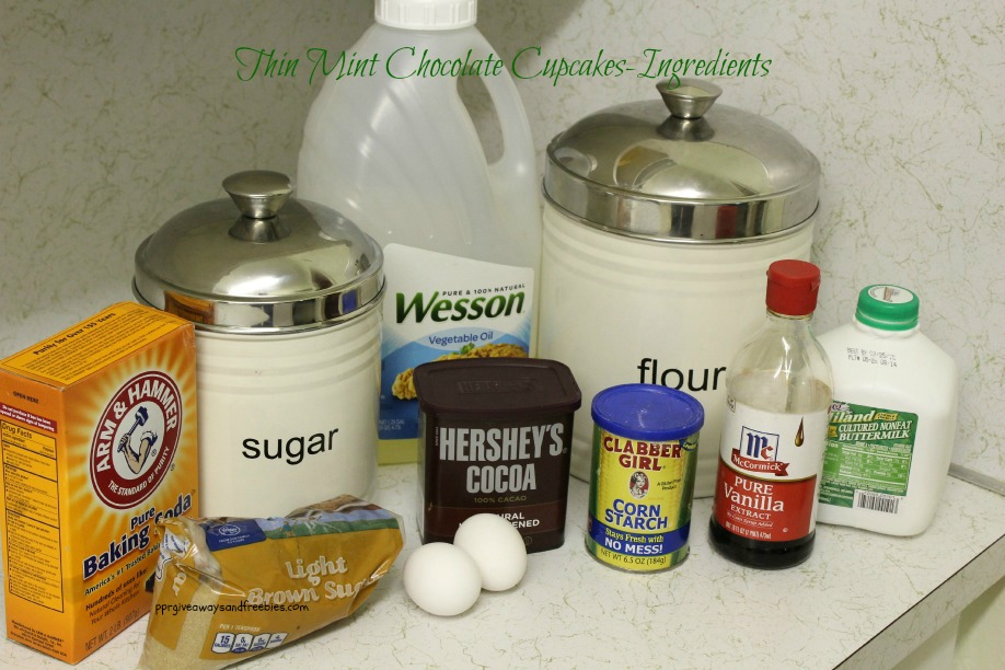 Thin Mint Chocolate Cupcakes Ingredients