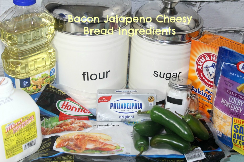 Bacon Jalapeno Cheesy Bread Ingredients