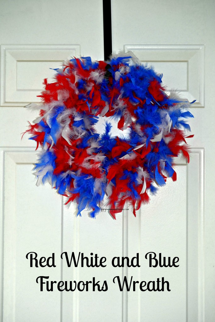 DIY Red White and Blue Fireworks Wreath