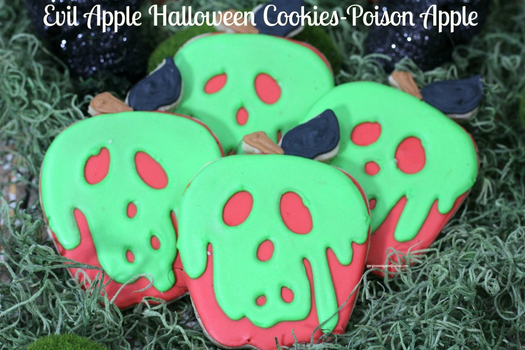 Evil Apple Halloween Cookies-Poison Apple