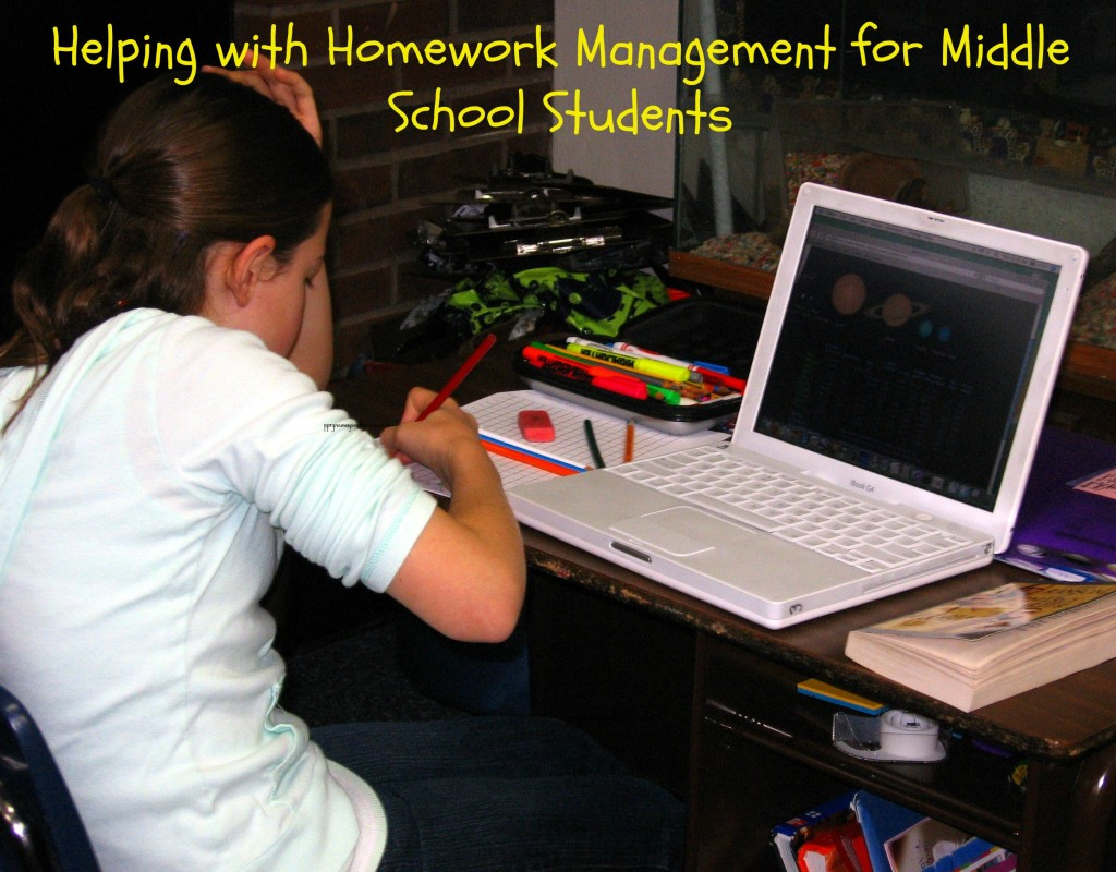 helping with homework management for middle school sficef