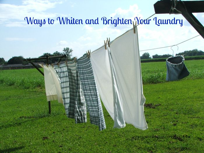 Ways to Whiten and Brighten Your Laundry
