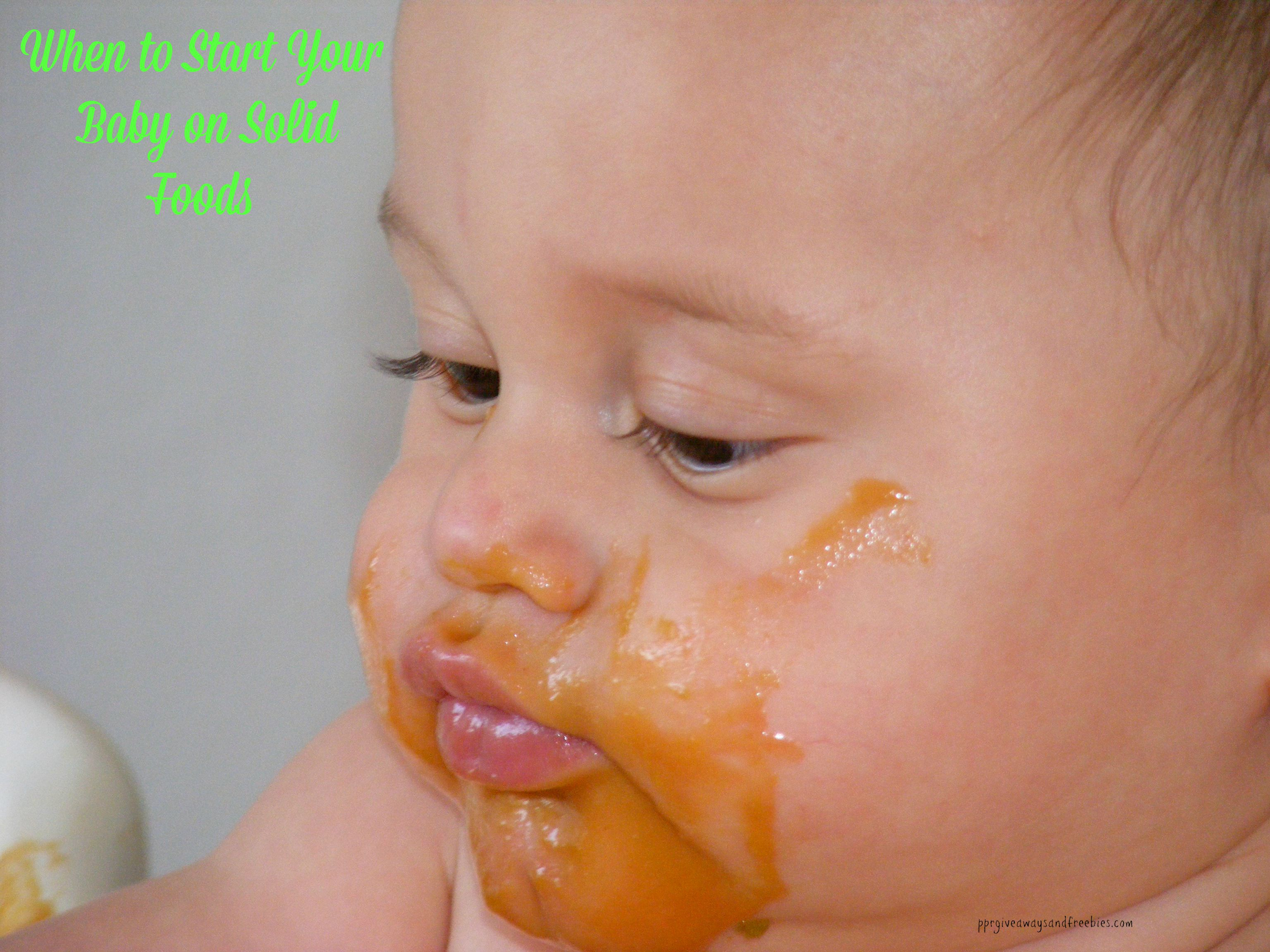 When to Start Your Baby on Solid Foods