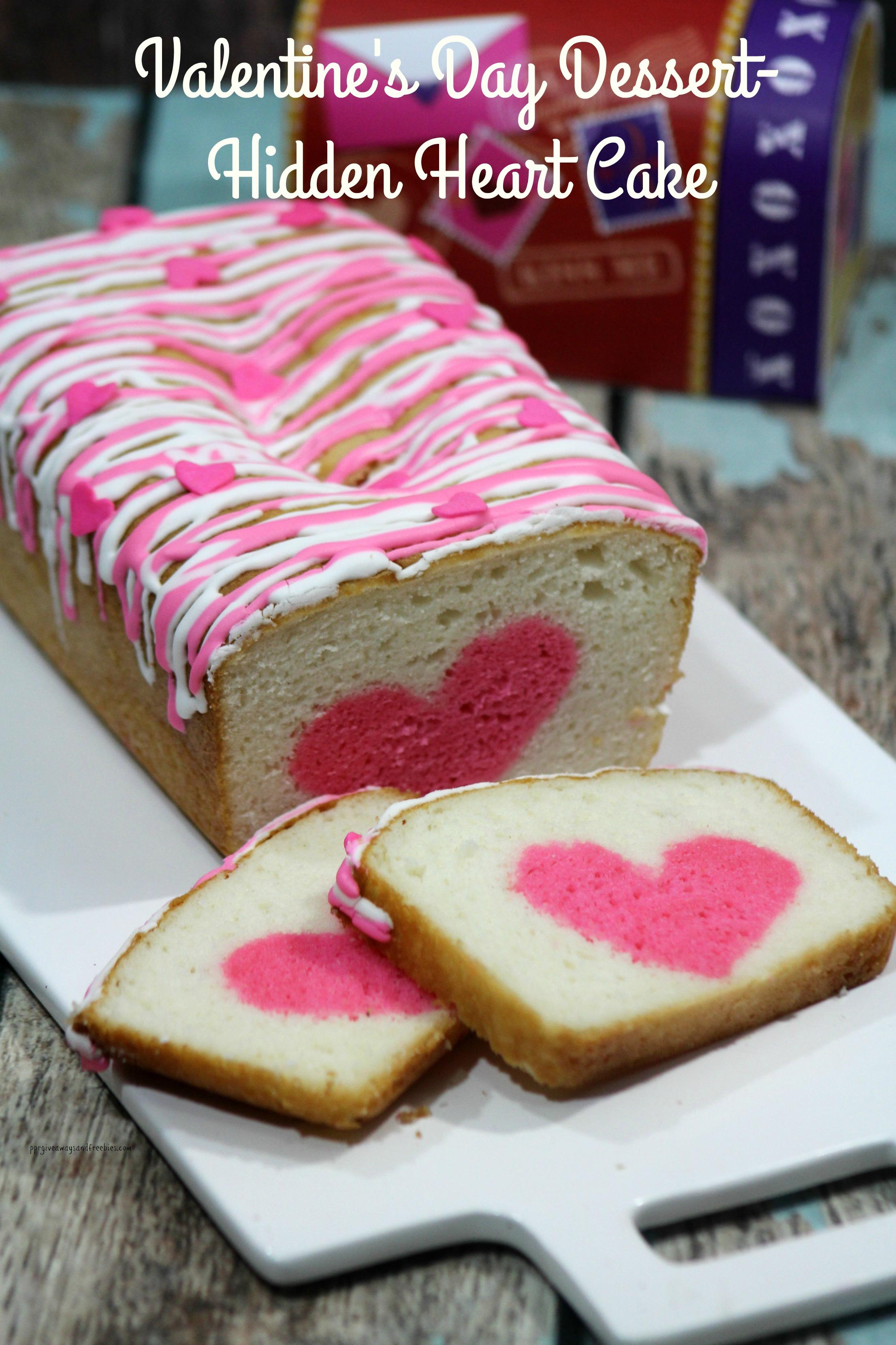 Valentine's Day Dessert-Hidden Heart Cake
