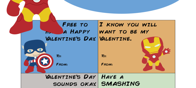 Avengers Printable Valentines