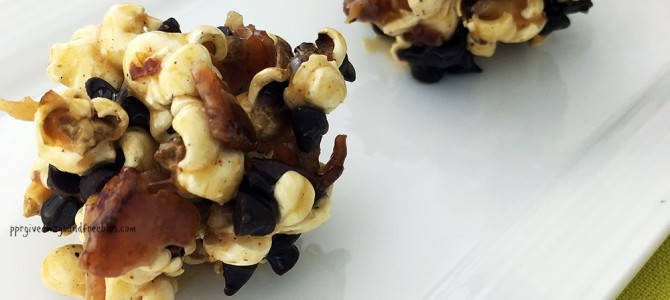 Bacon, Caramel, and Chocolate Dessert Popcorn