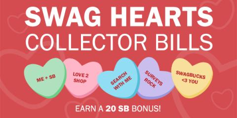 Swag Hearts Collector Bills