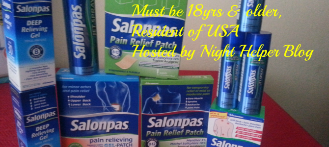 Night Helper Salonpas Giveaway