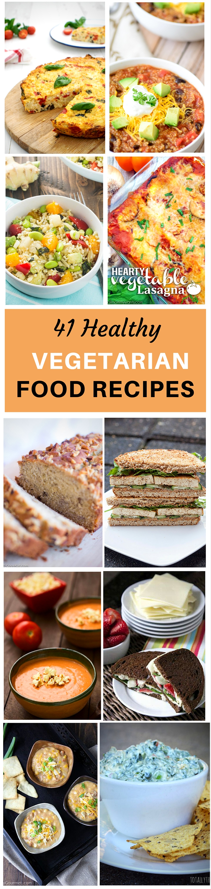 41 Healthy Vegetarian Recipes
