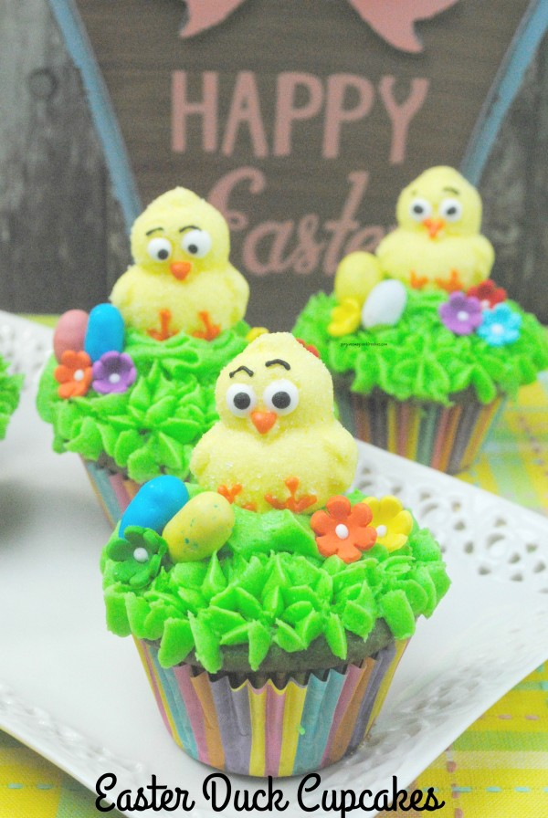 Easter Duck Cupcakes