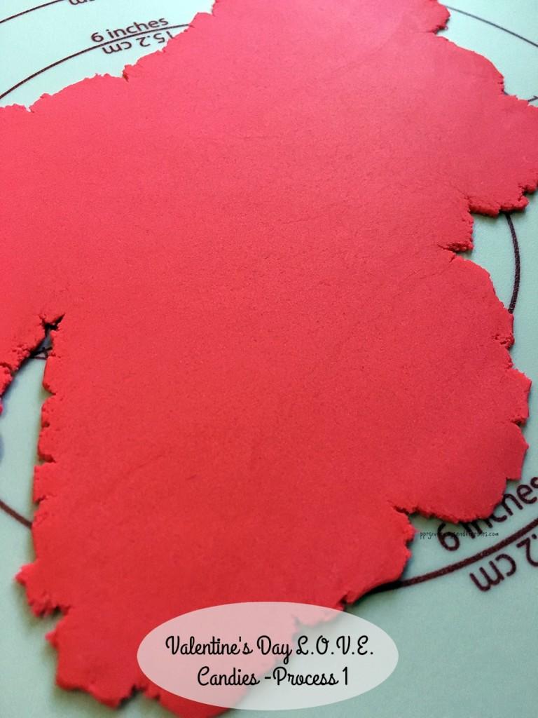 Valentine's Day L.O.V.E. Candies-Process 1