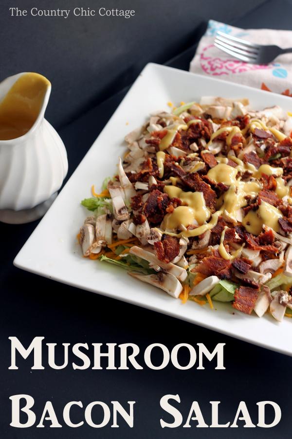 mushroom-bacon-salad