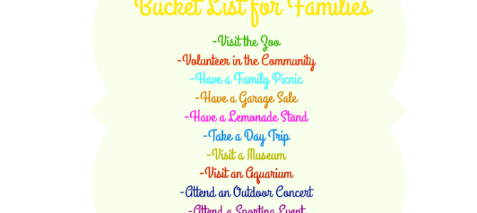 Bucket List for Families