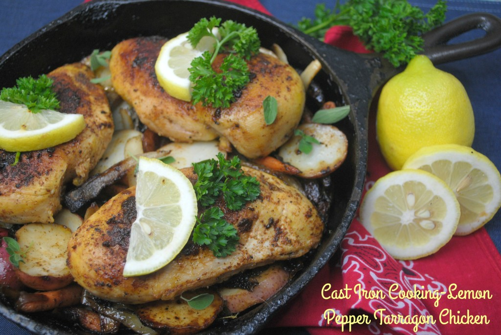Cast Iron Cooking-Lemon Pepper Tarragon Chicken 2