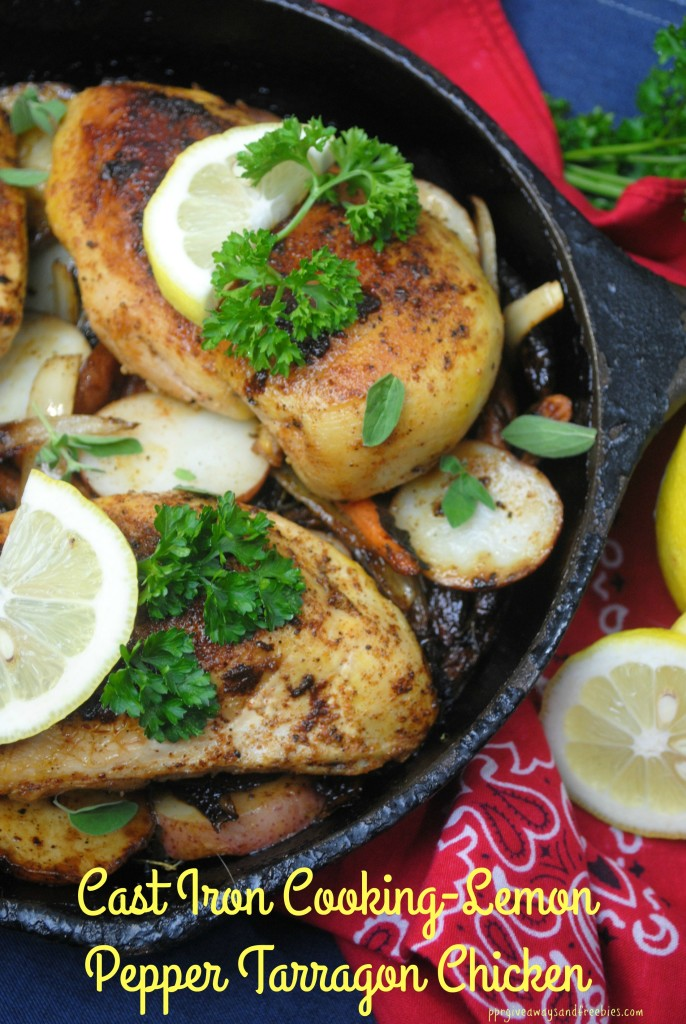 Cast Iron Cooking-Lemon Pepper Tarragon Chicken 3