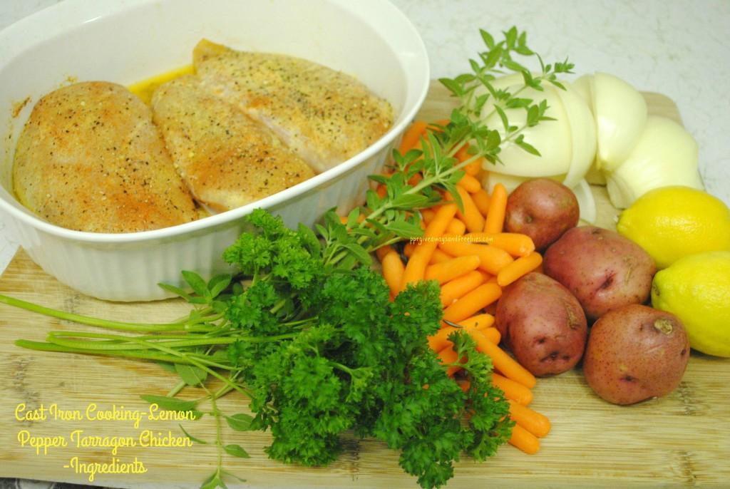 Cast Iron Cooking-Lemon Pepper Tarragon Chicken-Ingredients