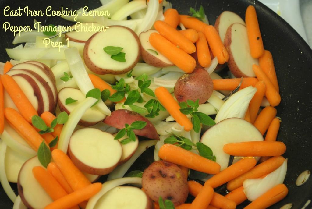 Cast Iron Cooking-Lemon Pepper Tarragon Chicken-Prep 1