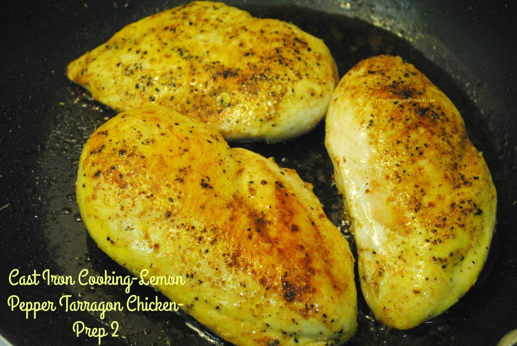 Cast Iron Cooking-Lemon Pepper Tarragon Chicken-Prep 2