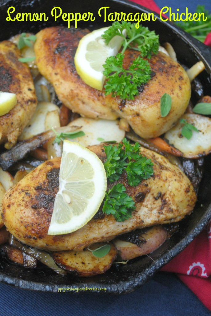 Cast Iron Cooking-Lemon Pepper Tarragon Chicken