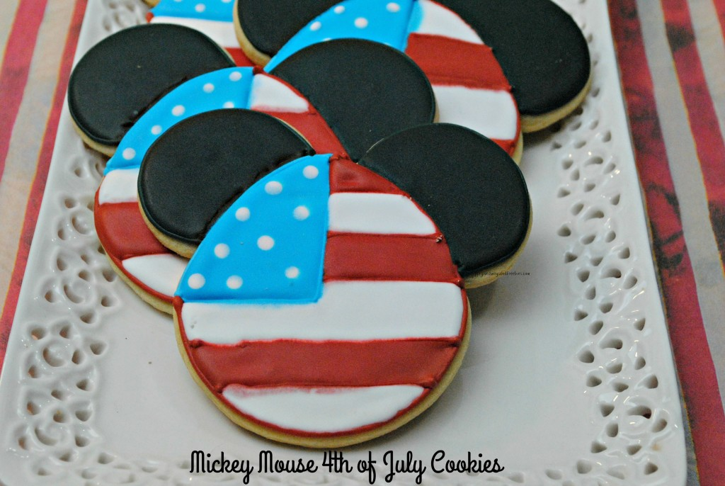 Mickey Mouse 4th of July Cookies