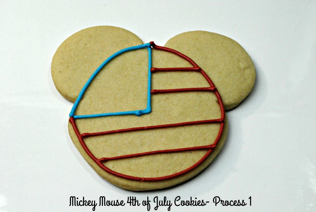 Mickey Mouse 4th of July Cookies-Process 1
