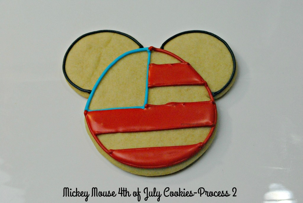 Mickey Mouse 4th of July Cookies-Process 2