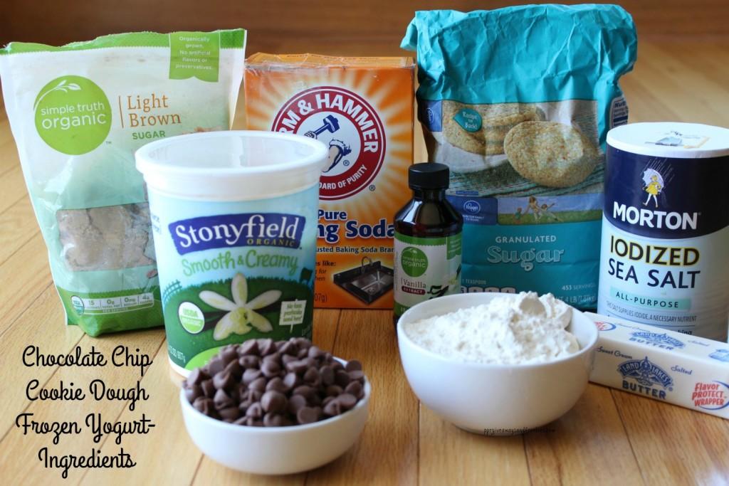 Chocolate Chip Cookie Dough Frozen Yogurt-Ingredients