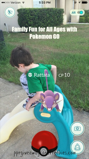 Ratata-Family Fun for All Ages with Pokemon GO