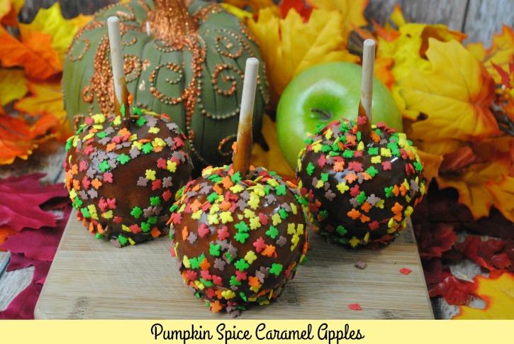 Pumpkin Spice Caramel Apples