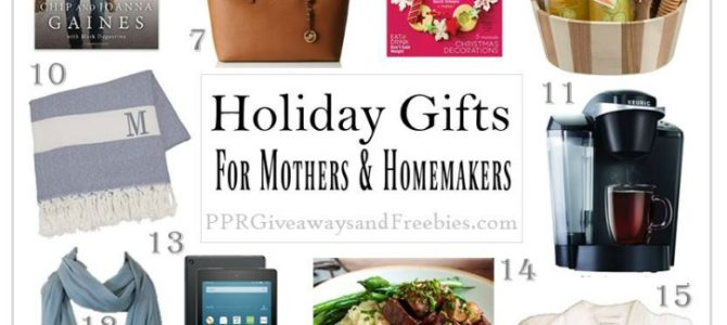 Holiday Gifts for Mothers and Homemakers