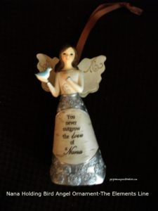 Nana Holding Bird Angel Ornament- The Elements Line- Pavilion Gift