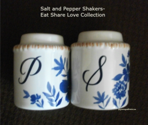 Salt and Pepper Shakers- Eat Share Love Collection- Gift Ideas Pavilion Gift