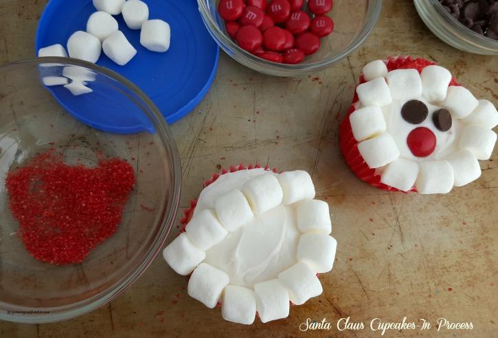 Santa Claus Cupcakes-In Process