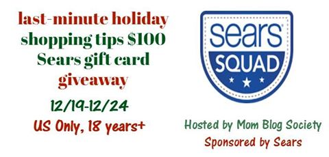 Last Minute Shopping Tips and $100 Sears Gift Card