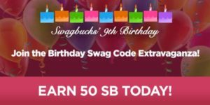 SWAGBUCKS BIRTHDAY Code Extravaganza Resized